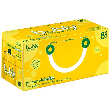 Bubly Sparkling Water Pineapple - 8-12 Fl. Oz.