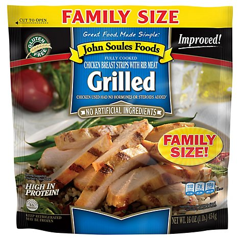 John Soules Fully Cooked Grilled Chicken Breast Strips - 16 Oz