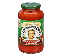Newmans Own Italian Sausage & Peppers Pasta Sauce - 24 Oz