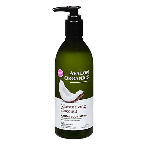 Avalon Organics Lotion Hand Body Coconut - 12 Oz
