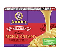 Annies Dlx Mac Cheese Four Cheese - 11.3 Oz