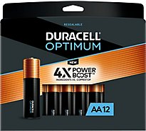 Duracell Optimum AA Alkaline Batteries - 12 count