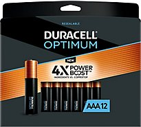 Duracell Optimum AAA Alkaline Batteries - 12 count