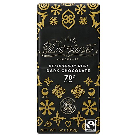Divine Ch Choc Bar Dark 70 - 3 Oz
