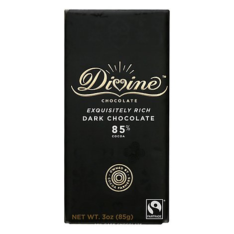 Divine Ch Choc Bar Dark 85 - 3 Oz