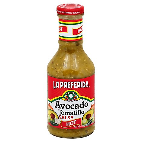 La Preferida Tomatillo Avocado Hot Salsa - 16 Oz