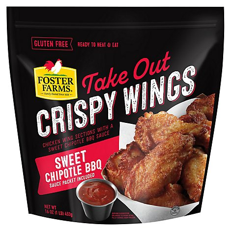Foster Farms Take Out crispy Chicken Wings Sweet Chipotle Bbq - 16 Oz