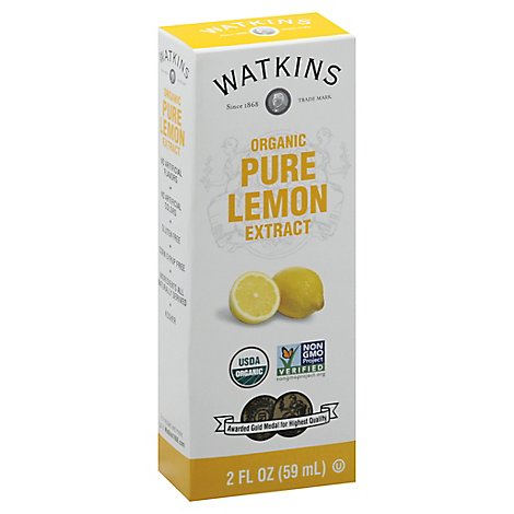 Watkins Extract Pure Lemon Org - 2 Fl. Oz.