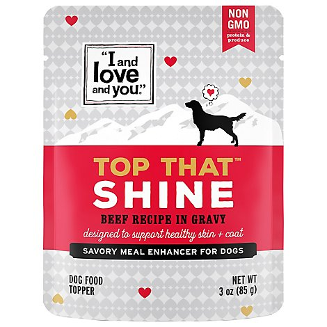 I&Love&You Top That Shine Beef In Gravy - 3 Oz