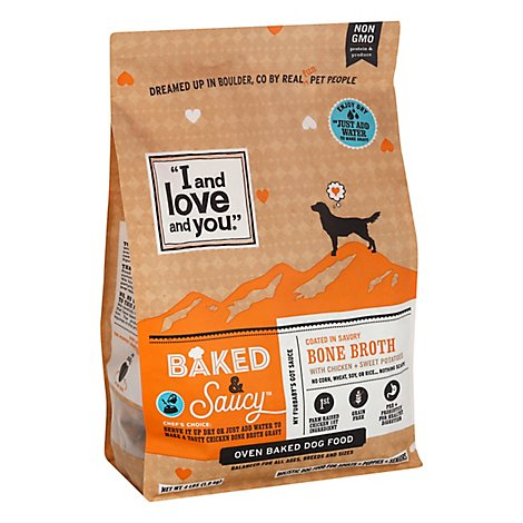I and love and you Dog Food Oven Baked & Saucy Bone Broth - 4 Lb