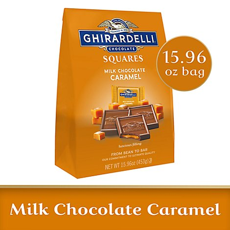 Ghirardelli Chocolate Squares Milk Chocolate Caramel - 15.96 Oz