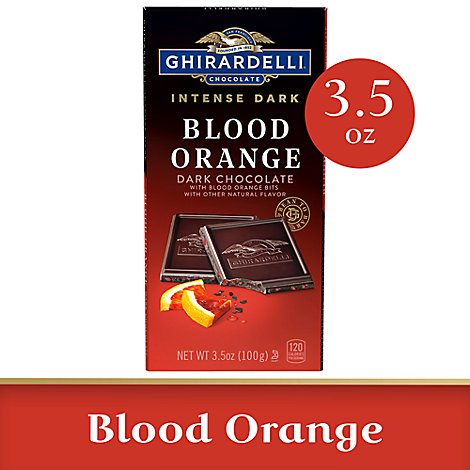 Ghirardelli Intense Dark Chocolate Bar Blood Orange Sunset - 3.5 Oz