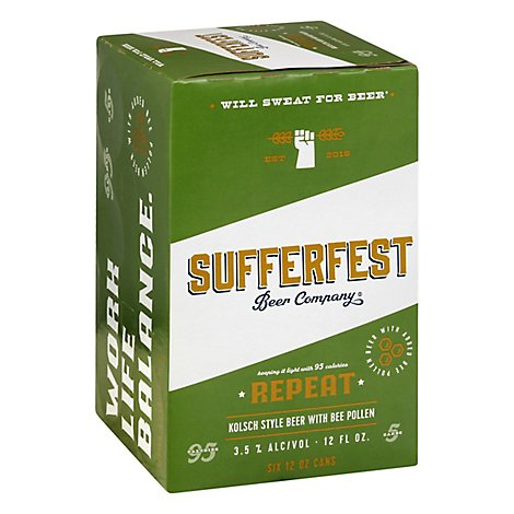 Sufferfest Repeat Kolsch In Cans - 6-12 Fl. Oz.