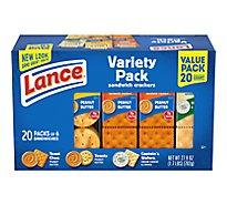 Lance Variety Pack Family Size Cracker 20 Count - 27.9 Oz