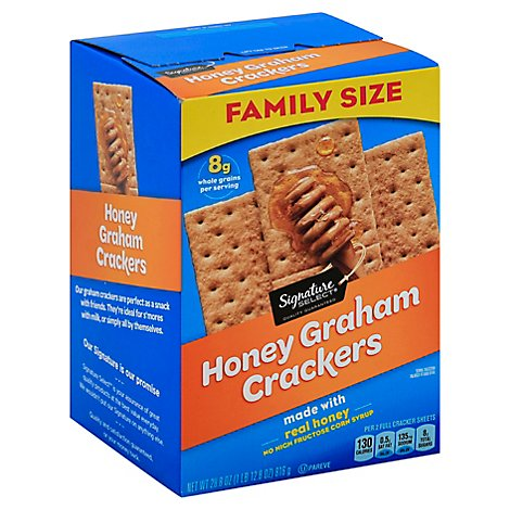 Signature Select Graham Cracker Honey Family Size - 28.8 Oz