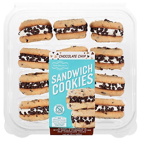 Chocolate Chip Sandwich Cookies - .9375 Lb