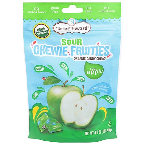 Sour Apple Chewie Fruities - 4 Oz