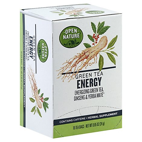 Open Nature Herbal Tea Energy - 16 Count