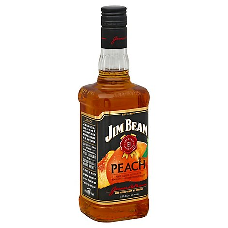 Jim Beam Bourbon Peach Bottle 65 Proof - 750 Ml
