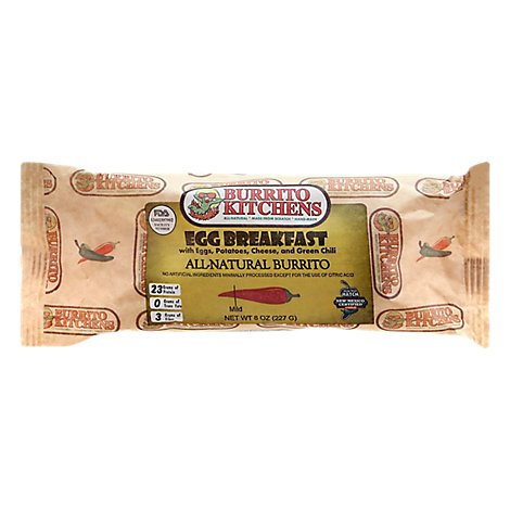 Burrito K Burrito Egg Breakfast Veg - 8 Oz