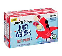 Juicy Juice Juicy Waters Fruit Punch 4 Count Case 8 Boxes - 8-6.75 Fl. Oz.