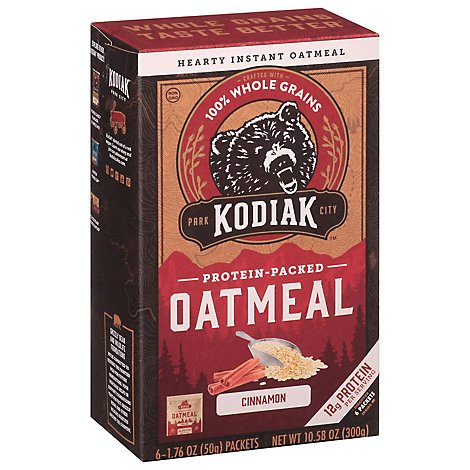 Kodiak Cakes Cinnamon Oatmeal Packet - 10.58 Oz