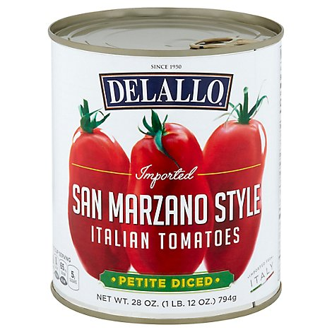 Delallo San Marz Tomatoes Diced - 28 Oz