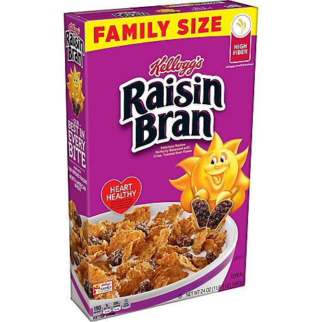 Kelloggs Raisin Bran Cereal Original Family Size - 24 Oz
