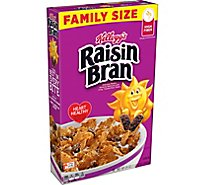 Kelloggs Raisin Bran Breakfast Cereal Original Excellent Source of Fiber Box - 24oz