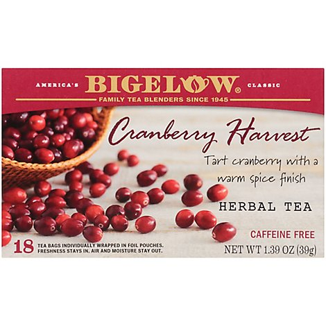 Bigelow Cranberry Harvest 20 Tea Bags - Each