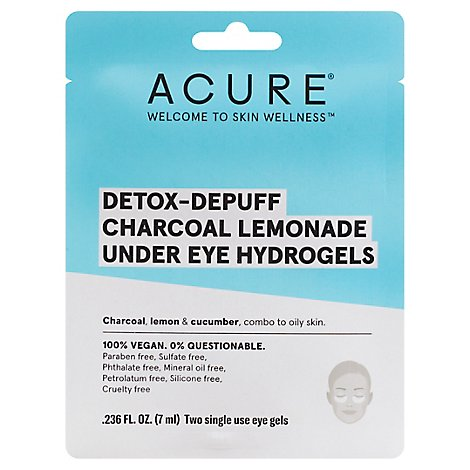 Acure Hydrogel Und Eye Detox De - 1 Each