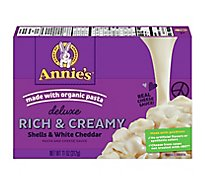 Annies Pasta Deluxe Mac & Cheese Shells & White Cheddar - 11 Oz