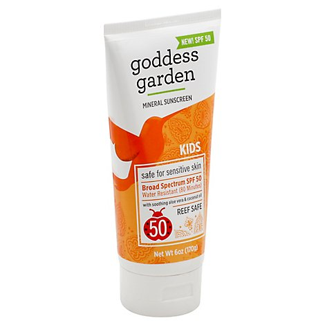 Goddess G Sunscreen Tube Kid Spf50 - 6 Oz