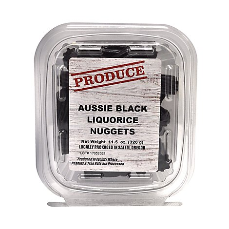 Rivertrail Foods Produce Licorice Nuggets Black Aussie - 11.5 Oz