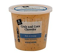 Signature Cafe Soup Crab & Corn Chowder - 24 Oz