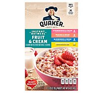 Quaker Instant Oatmeal Fruit & Cream Variety - 8.4 Oz