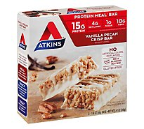 Atkins Vanilla Pecan Crisp Meal Bar 5pk - 5-1.27 Oz