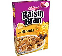 Kelloggs Raisin Bran Breakfast Cereal Original with Bananas Good Source of Fiber Box - 15.9oz