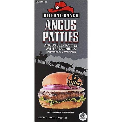 Red Hat Ranch Angus Beef Seasond Patties - 2 Lb