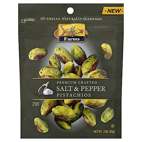 Settn Frm Salt & Pepper Seasoned Pistachio Kernels - 3 Oz