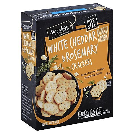Signature SELECT Cracker Bite White Cheddar & Rosemary - 7 Oz