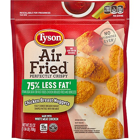Tyson Air Fried Perfectly Crispy Chicken Nuggets - 25 Oz