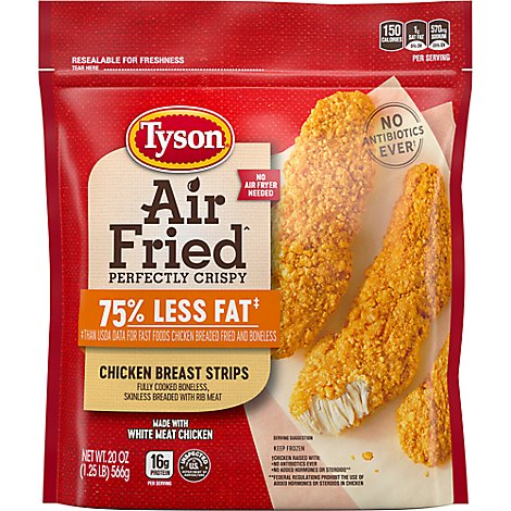 Tyson Air Fried Perfectly Crispy Chicken Breast Strips - 20 Oz