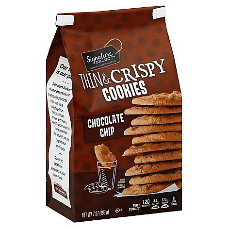 Signature SELECT Cookies Thin & Crispy Chocolate Chip - 7 Oz