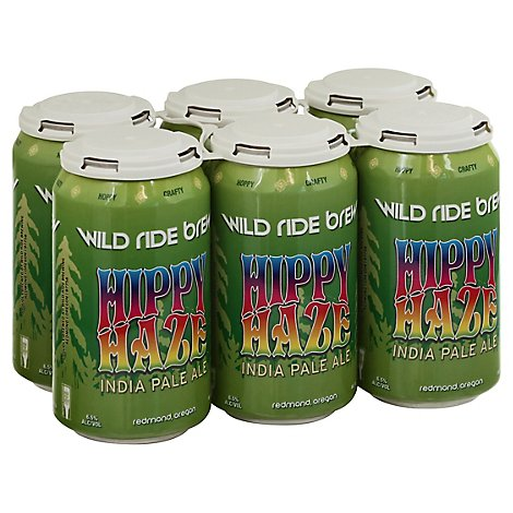Wild Ride Hippy Haze Ipa In Cans - 6-12 Fl. Oz.