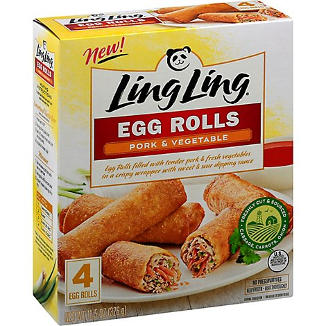 Ling Ling Ssa Pork Egg Roll 5 Units - 11.5 Oz