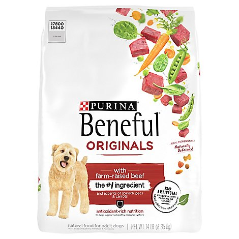 Purina Beneful Original W Beef - 14 Lb