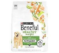 Purina Beneful Dog Food Dry Healthy Weight With Real Chicken - 14 Lb