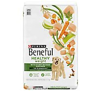 Purina Beneful Dog Food Dry Healthy Weight With Real Chicken - 28 Lb