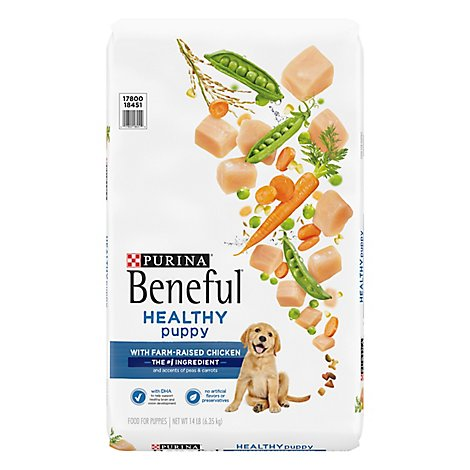 Purina Beneful Dog Food Dry Healthy Puppy Chicken - 14 Lb